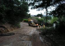 Downhill Clean-up Operations after Mudslide