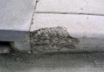 Defective Spalling in Concrete Sidewalk Curb (containing Fly-Ash)-  Building Technology Investigations