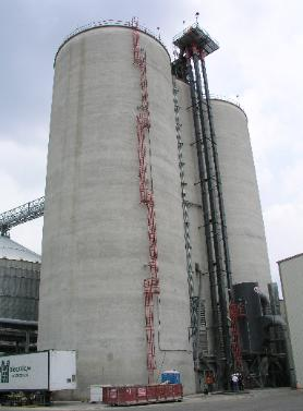 Structural Investigation at Ethanol Plant - Slip Formed Reinforced Concrete Multi-Bin Grain Silos & Interstice Bin
